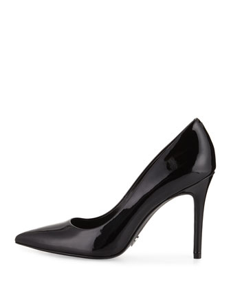5af0aec188 MICHAEL Michael Kors Claire Patent Pointed-Toe Pump, Black | Neiman Marcus