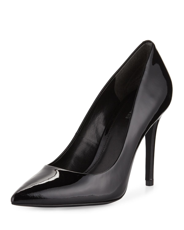 b60e598a0a MICHAEL Michael Kors Claire Patent Pointed-Toe Pump, Black | Neiman ...