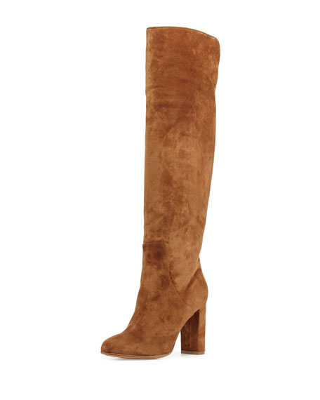 Alexa Wagner Theresa Suede Over-the-Knee Boot, Brown
