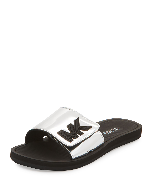 2dff251a5122 MICHAEL Michael Kors MK Metallic Slide Sandal