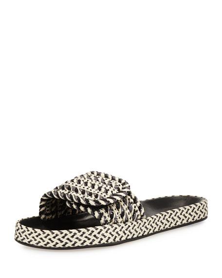 Isabel Marant Enki Flat Rope Slide Sandal, Gray