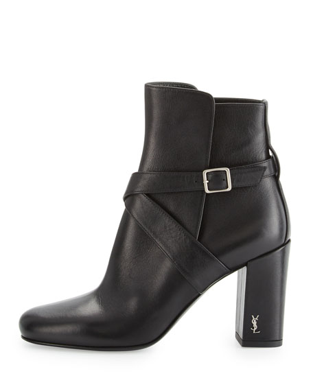 Babies 90mm Ankle-Strap Bootie, Nero