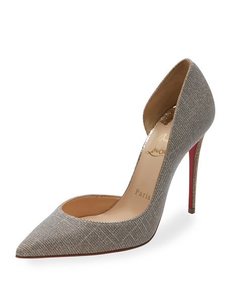 Christian Louboutin Iriza Glitter 100mm Red Sole Pump,