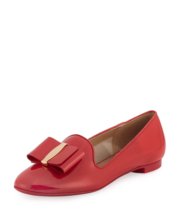 56c33c6ab627 Salvatore Ferragamo Bow Patent Loafer