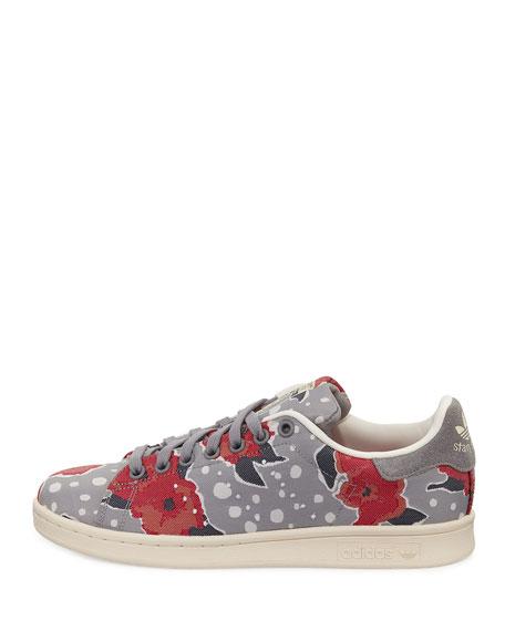Adidas stan smith floral sneakers solid grayunity pink neiman marcus mightylinksfo