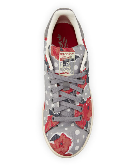 Stan Smith Floral Sneaker, Solid Gray/Unity Pink