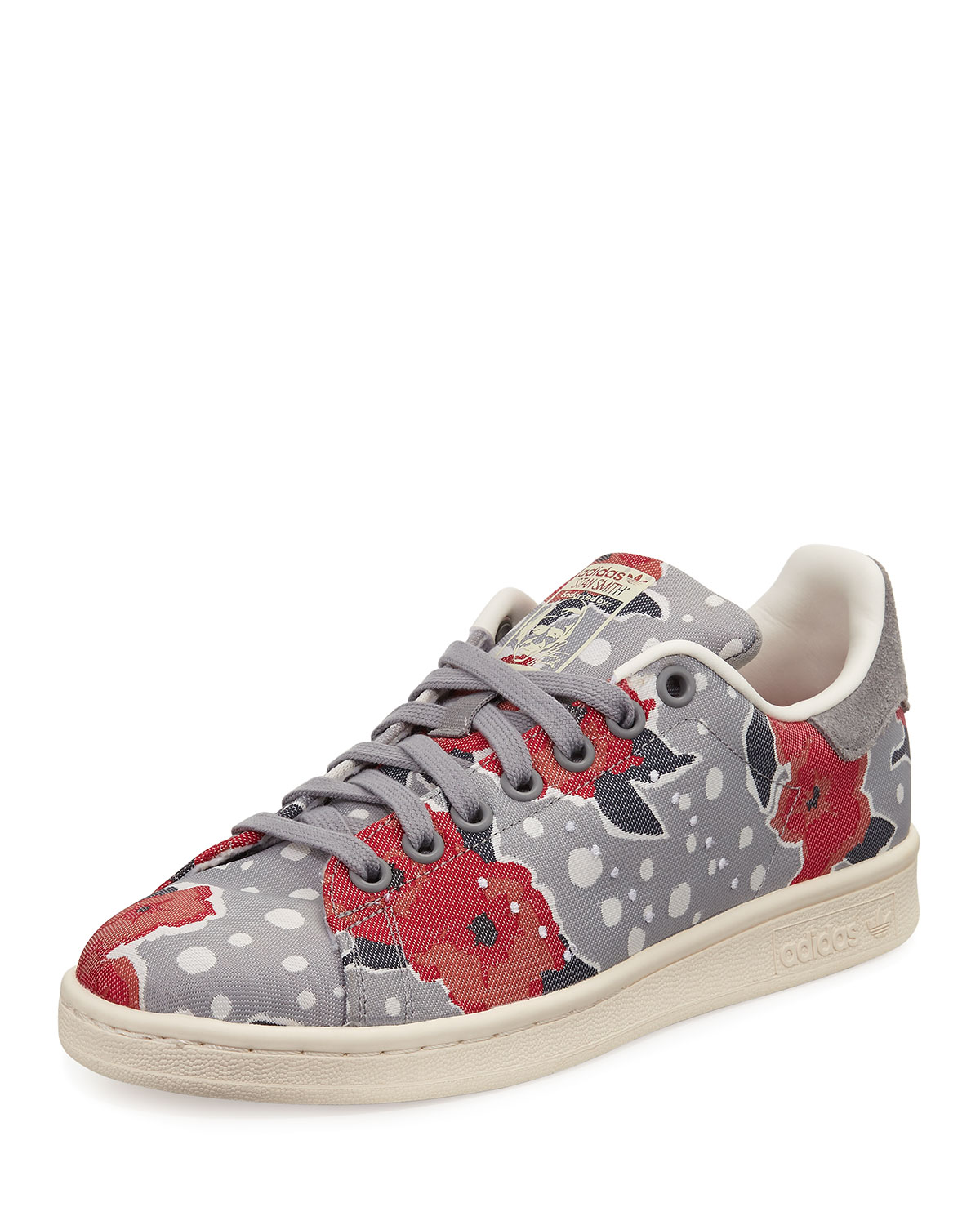 low priced 4a15c 7008f Adidas Stan Smith Floral Sneakers, Solid Gray Unity Pink
