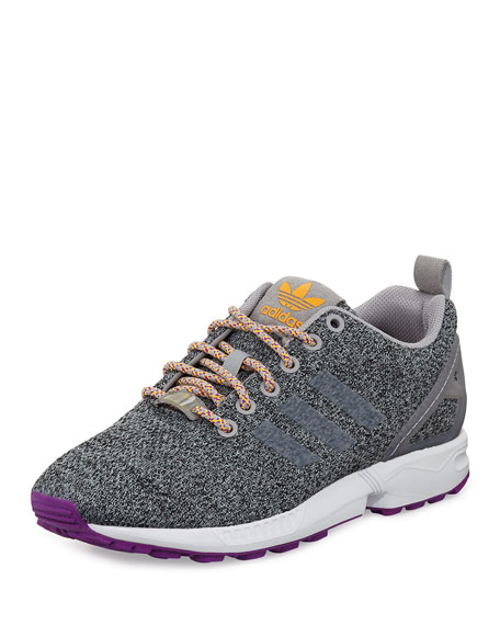 adidas Originals Men's Zx Flux Grey, Red and Blue Running Shoes