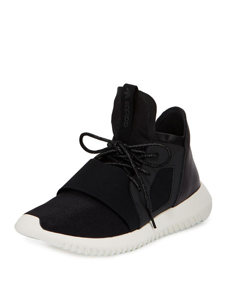 Adidas Tubular Defiant High-Top Sneaker, Core Black/White