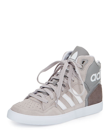 Adidas Extaball High-Top Sneaker, Charcoal Solid