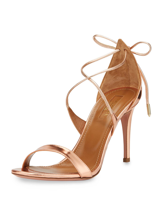 Linda sandals - Metallic Aquazzura AlBvj7