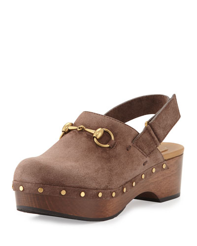 Amstel Suede Clog, Maple Brown