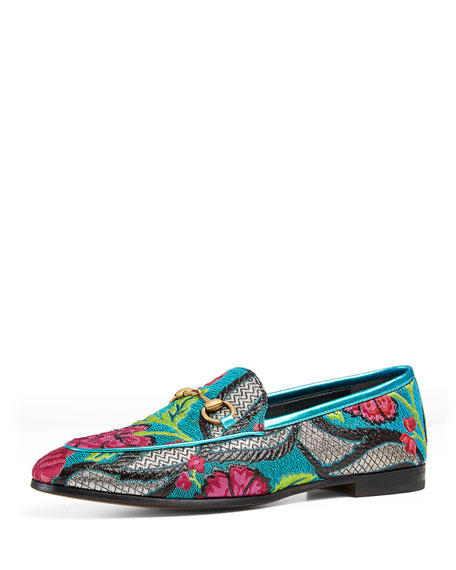 Gucci Brocade Horsebit Loafer, Multi