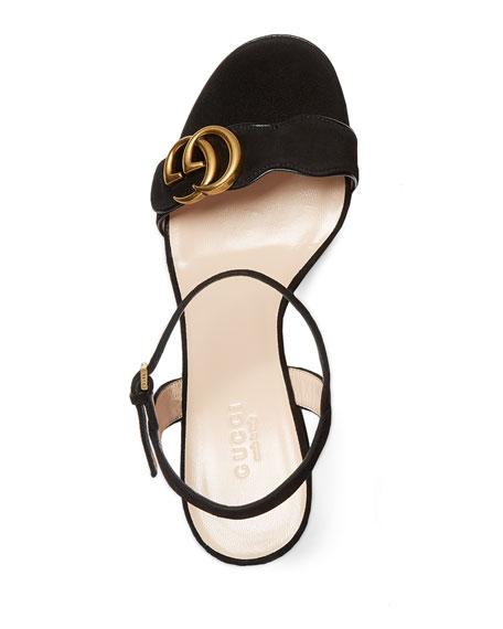 Marmont Suede 75mm Sandal, Black