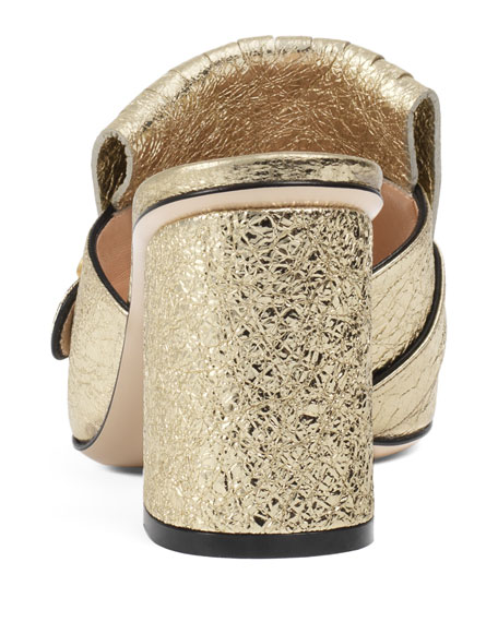 Marmont Metallic Leather 75mm Mule