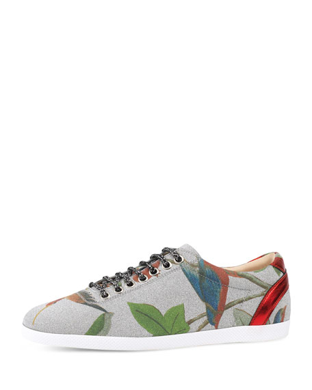 Gucci Bambi Tian Low-Top Sneaker, Silver