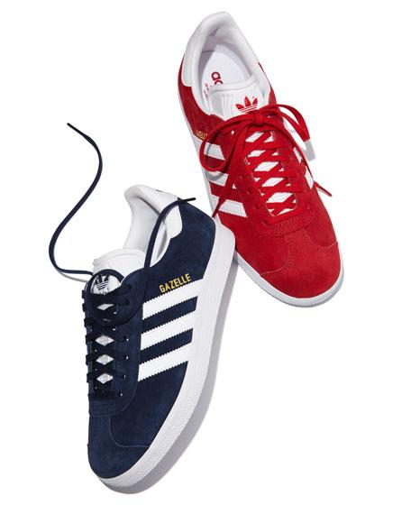 Gazelle Original Suede Sneaker, Scarlet/White