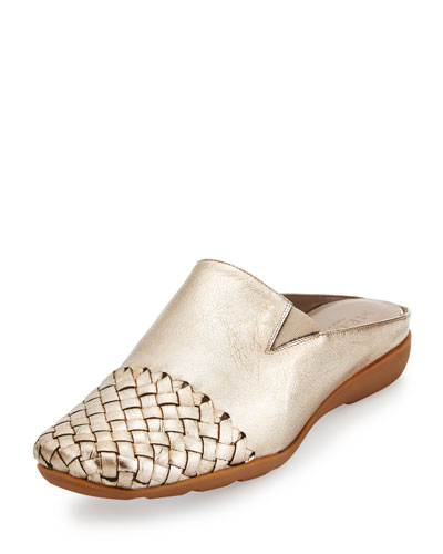 Gabor Woven Mule Sneaker, Platino