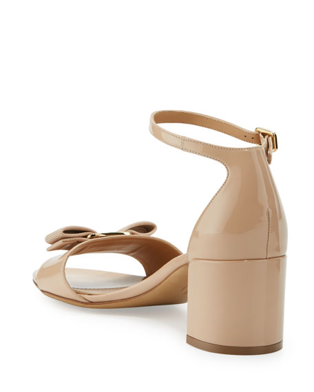 Bow Patent City Sandal, Bisque