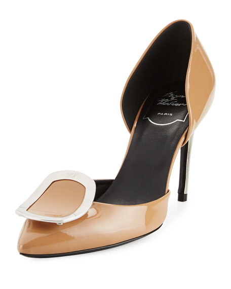 cheapest price online brand new unisex for sale Roger Vivier Sexy Choc leather pumps for cheap discount clearance online amazon sale good selling EWVaE8CYIa