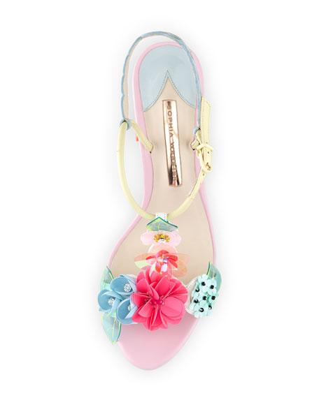 Lilico Floral Mid-Heel Sandal, Pearl Blue