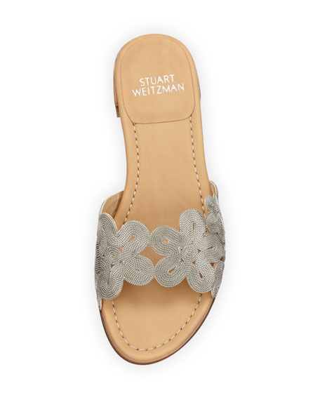 Florette Floral Chain Slide Sandal