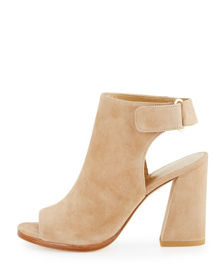 Frontroom Suede Chunky-Heel Sandal, Mojave