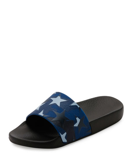 Valentino Garavani PVC Stars Rubber Slide Sandal, Light