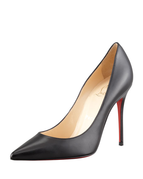 Christian Louboutin Decollette Red Sole Pump, Black