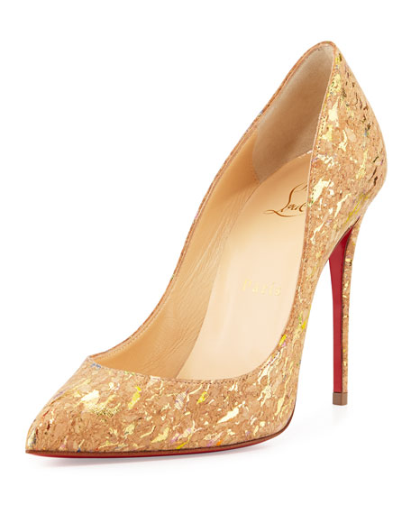 Christian Louboutin Pigalle Follies Cork 100mm Red Sole