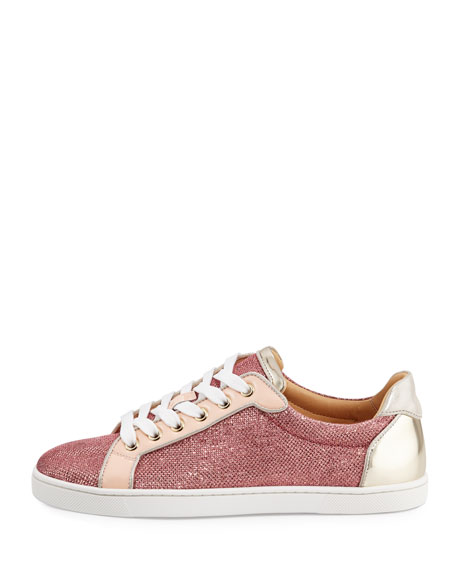 Seava Woman Glitter Red Sole Low-Top Sneaker