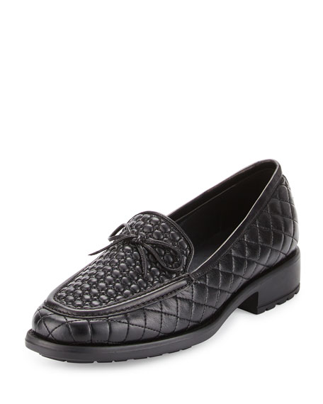 Sesto Meucci Macall Quilted Leather Loafer, Black