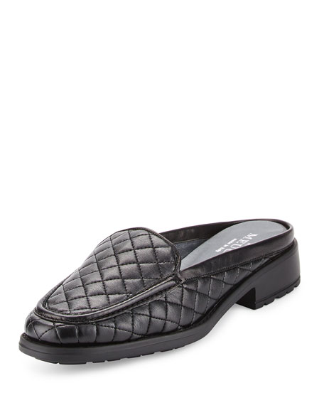 Sesto Meucci Mada Quilted Leather Mule, Black