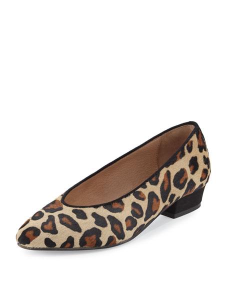 Sesto Meucci Zan Calf-Hair Comfort Flat, Leopard