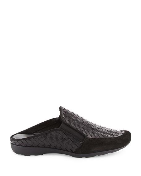 Galaxy Woven Comfort Mule, Black
