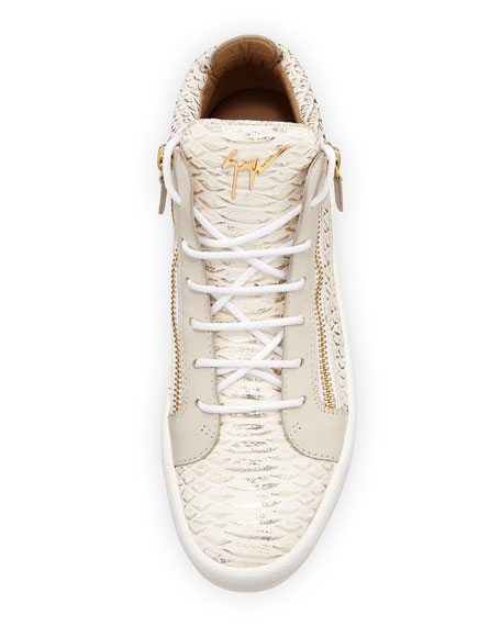 May London Ofelia High-Top Sneaker, Milk