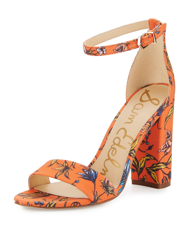 39527e100ba7 Sam Edelman Yaro Floral Block-Heel Sandal