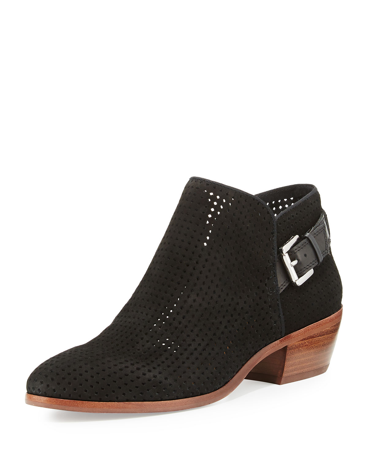 c512ec82fcaf34 Sam Edelman Paula Perforated Suede Bootie