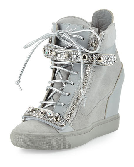 Giuseppe Zanotti for Jennifer Lopez Tiana Crystal High-Top