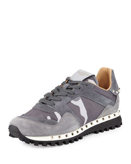 Camouflage Rockrunner® Sneaker, Past Gray