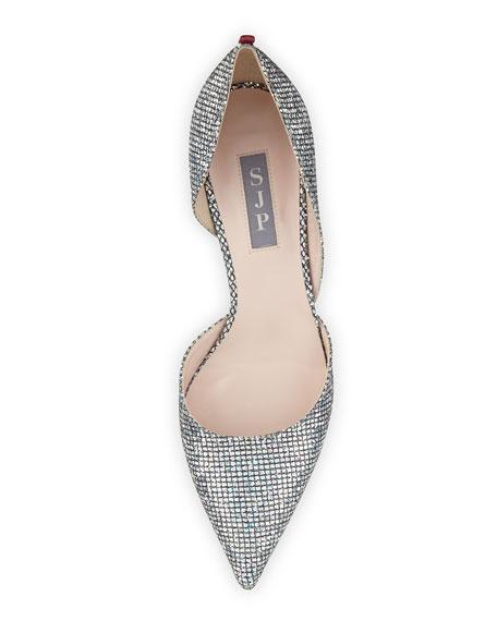 Phantom Glitter d'Orsay Pump, Silver
