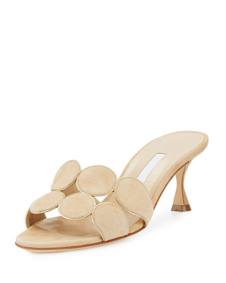 Manolo Blahnik Hairibal Circle-Cut 65mm Mule Sandal