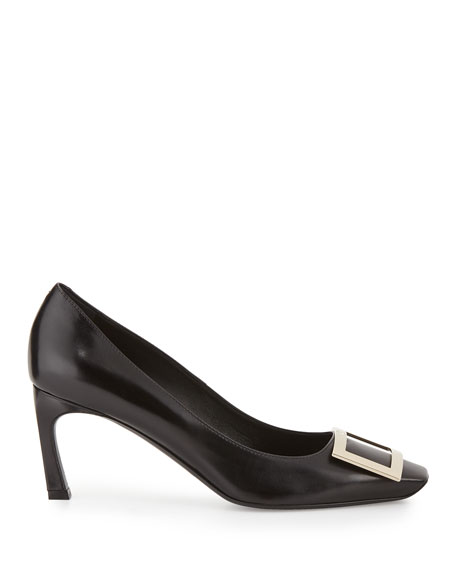Belle Vivier Trompette Leather 70mm Pumps, Black