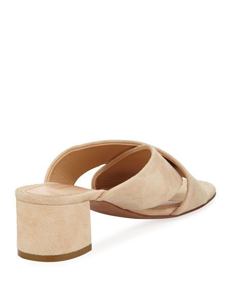 Suede Crisscross 40mm Slide Sandals