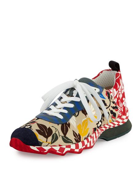 Chameleon Floral-Print Canvas Sneaker, Multi