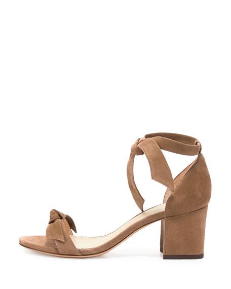 Alexandre Birman Clarita Suede Block-Heel Sandals