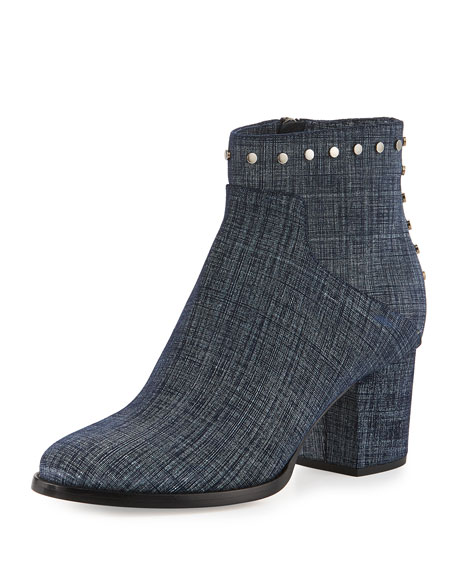 Melvin Studded 65mm Bootie, Blue