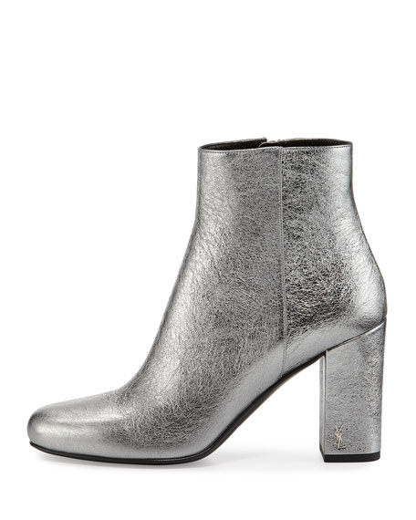 Babies Metallic 90mm Ankle Boot, Gray