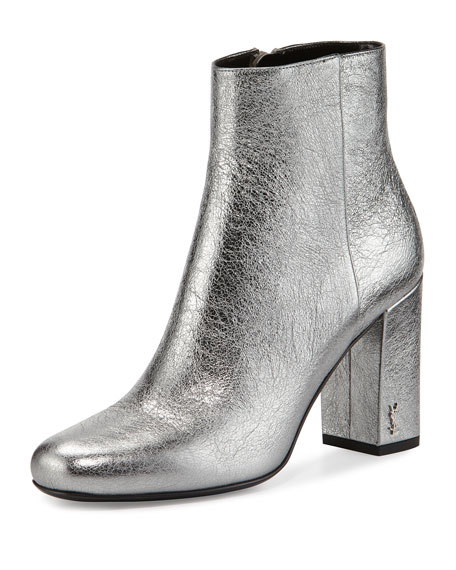 Image 1 of 4: Babies Metallic 90mm Ankle Boots, Gray