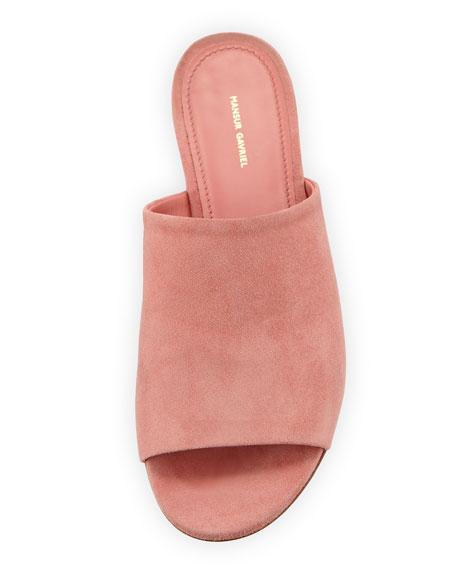 Soft Suede Flat Slide Sandal